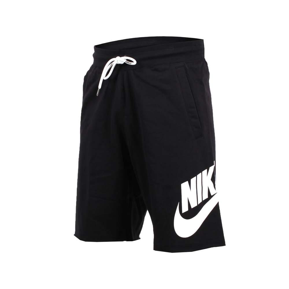 NIKE 男针织短裤-慢跑 路跑 健身 五分裤 黑白@836278010@
