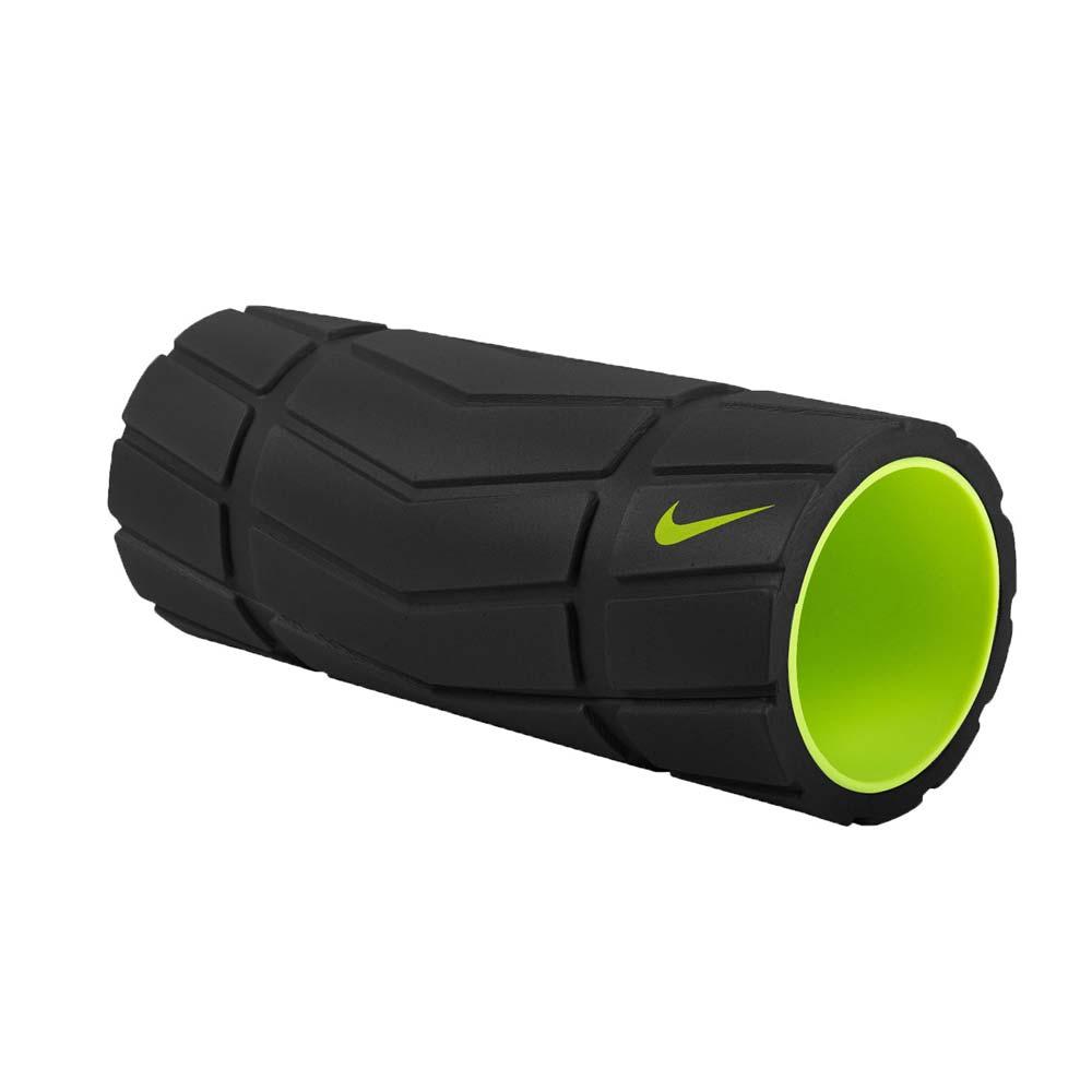NIKE 輔助滾筒-13吋-瑜珈柱 瑜珈滾輪 按摩滾輪 訓練 塑身 健身 黑螢光綠@NER3202313@