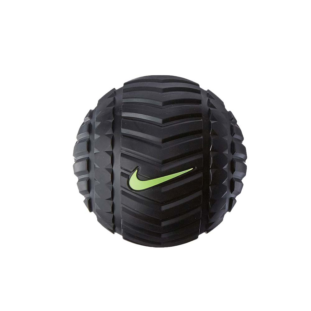 NIKE 輔助按摩球-瑜珈按摩球 紓壓 拉筋 訓練 塑身 健身 黑螢光綠@NER35023NS@