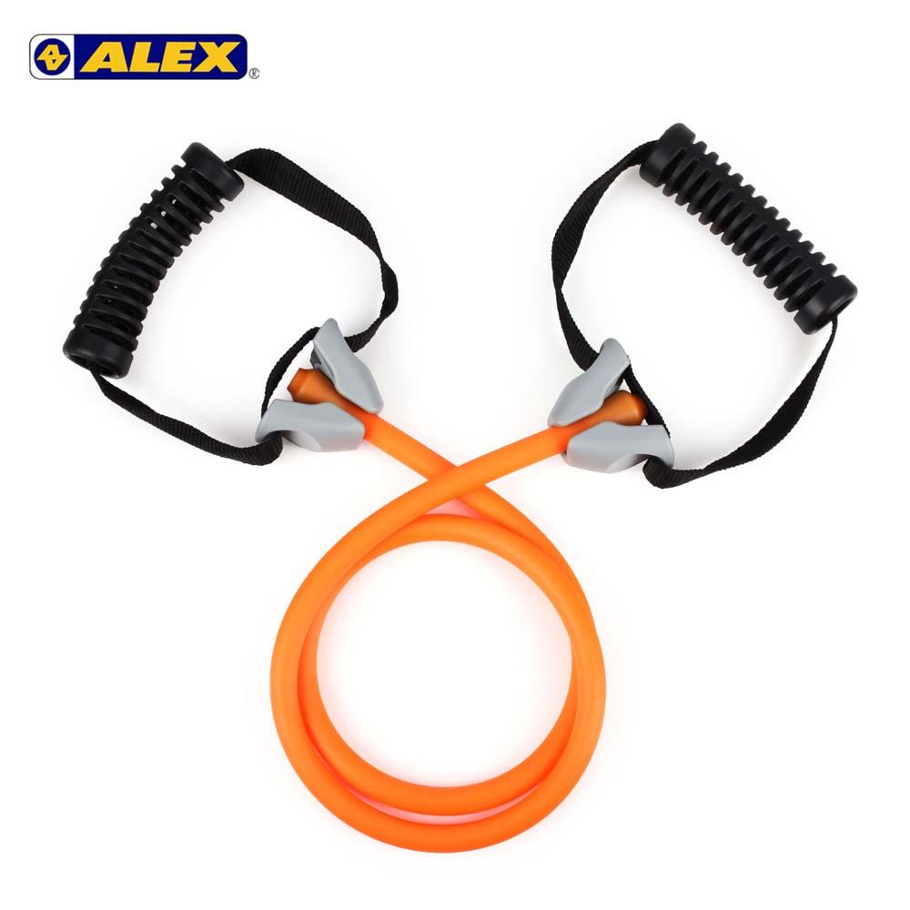 ALEX 高強度拉力繩-輕型-拉力帶 瑜珈繩 彈力繩 健身阻力帶 阻力繩 訓練帶 橘@B-4302@