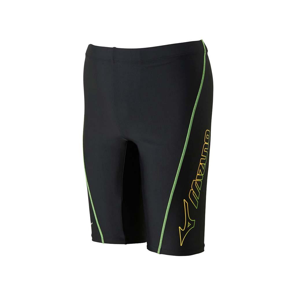 MIZUNO SWIM FITNESS 男泳裤-竞赛 泳装 游泳 戏水 美津浓 黑绿黄@N2JB660293@