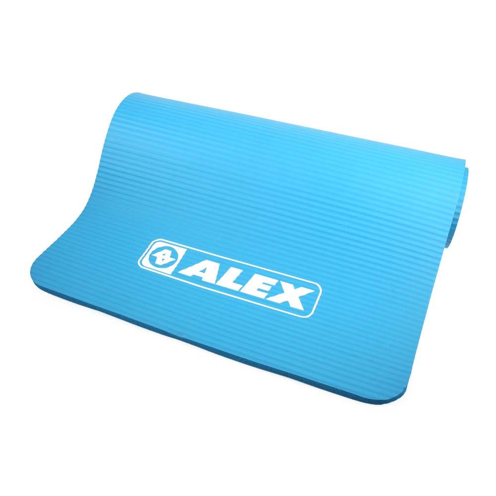 ALEX 運動地墊10MM-圓角-瑜珈墊 塑身 止滑墊 附收納袋 藍@C-5301@