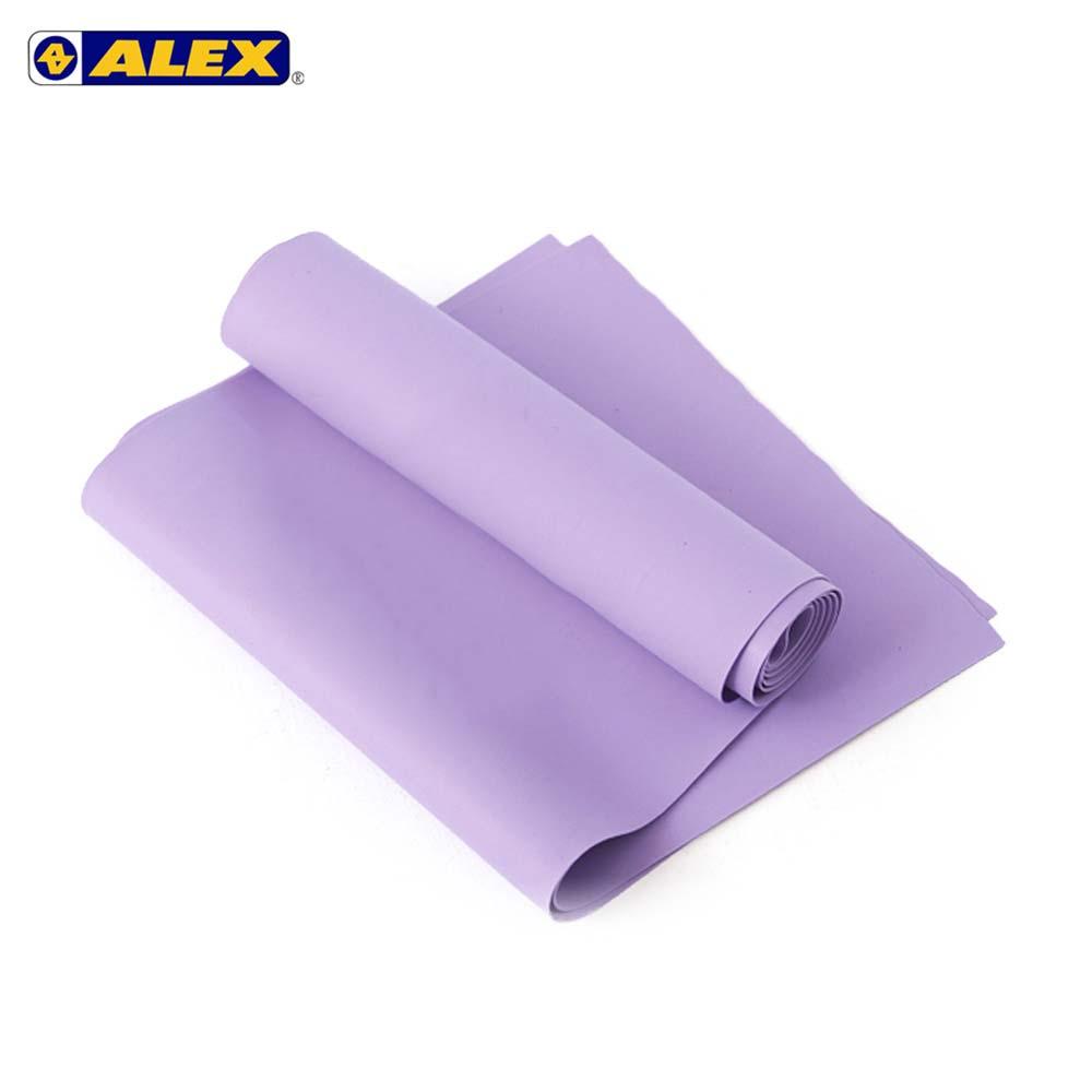 ALEX 伸展弹力带厚度0.5MM-瑜珈绳 健身阻力带 弹力绳 拉力带 训练带 紫@C-4701@
