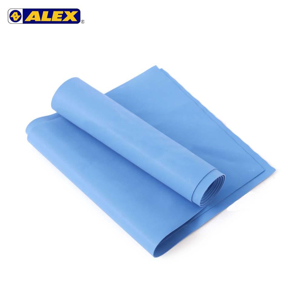 ALEX 伸展弹力带厚度0.65MM-瑜珈绳 健身阻力带 弹力绳 拉力带 训练带 蓝@C-4702@