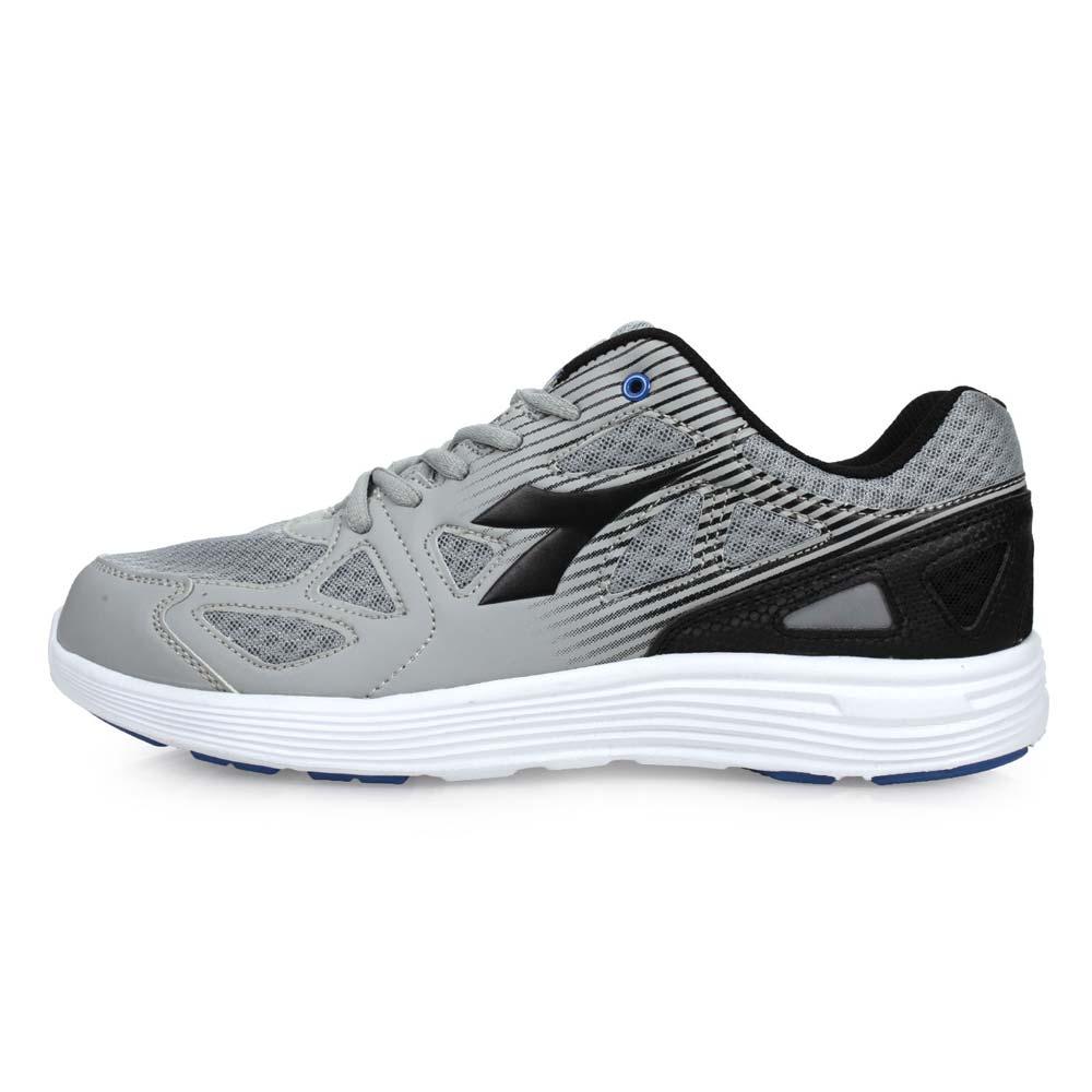 DIADORA 男慢跑鞋-路跑 灰黑@DA8AMR5798@