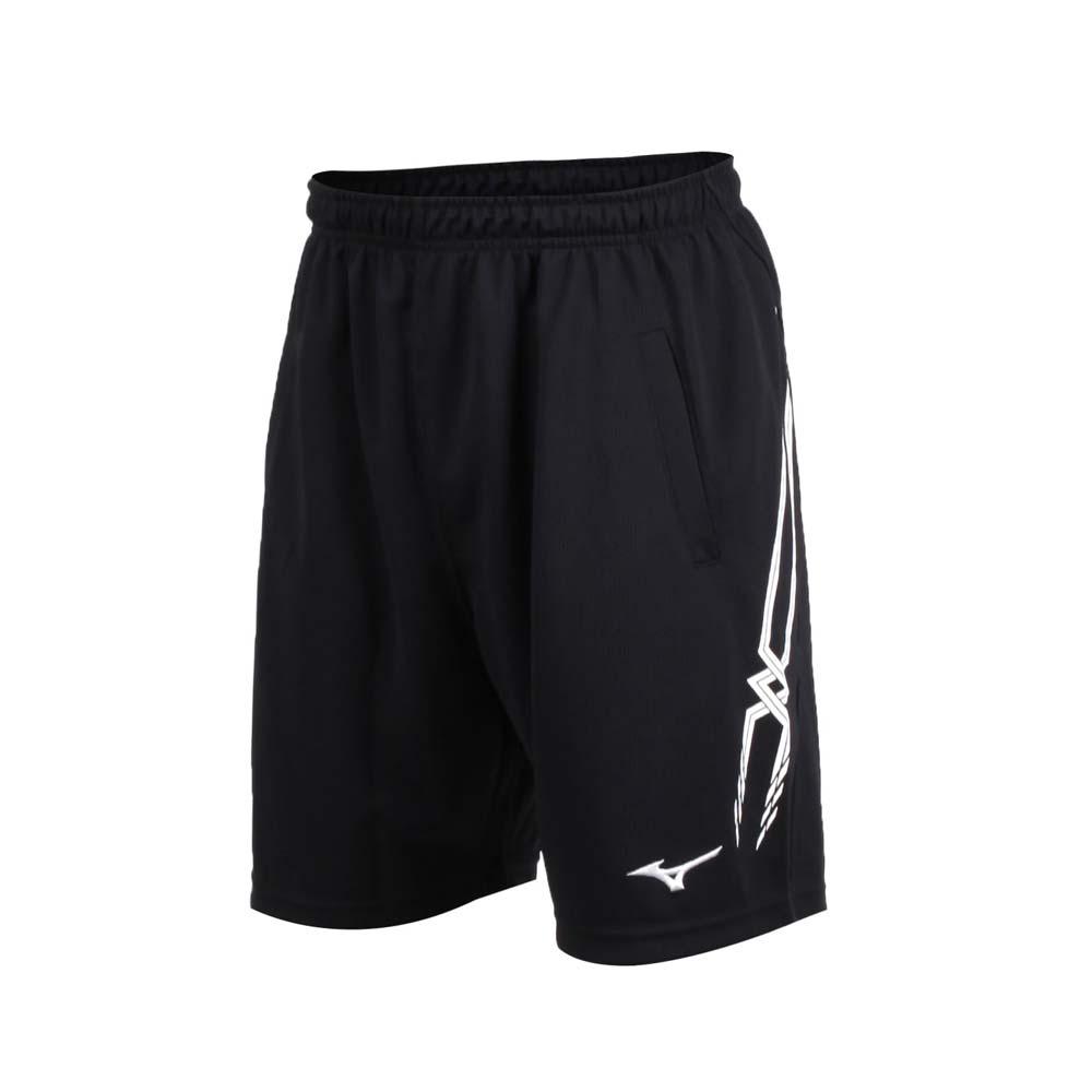 MIZUNO 男排球裤-运动短裤 五分裤 慢跑 路跑 美津浓 黑白@V2TB7A0609@