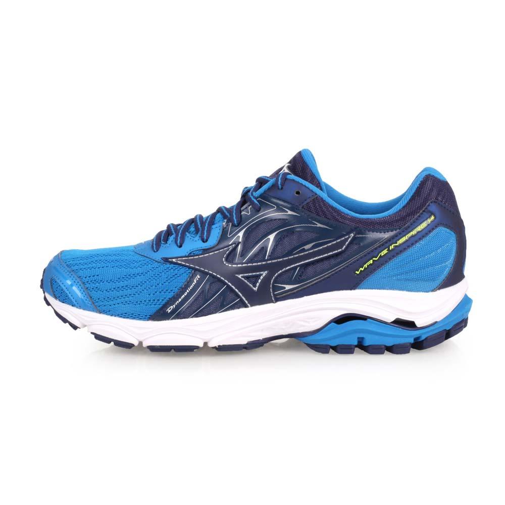 MIZUNO WAVE INSPIRE 14 男慢跑鞋-训练 路跑 美津浓 丈青蓝@J1GC184417@