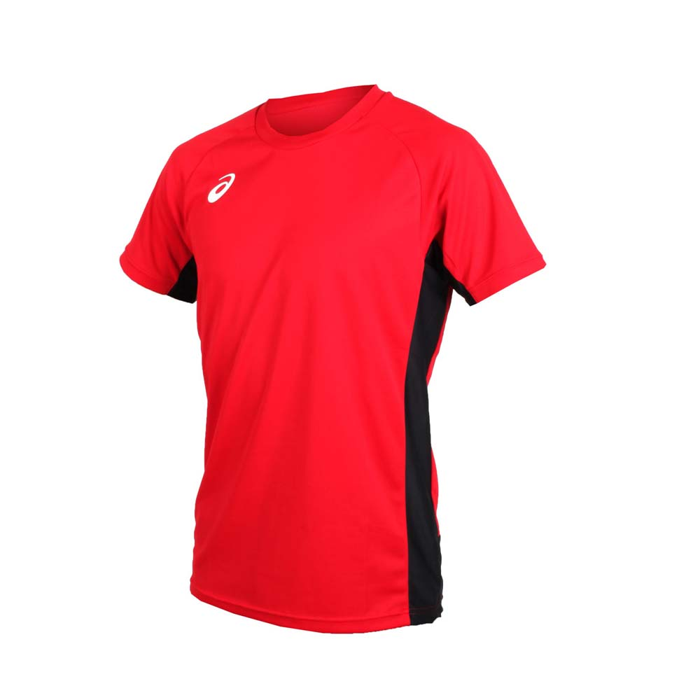ASICS 男短袖排球练习T恤-短T T恤 亚瑟士 红白@868A03-0615@
