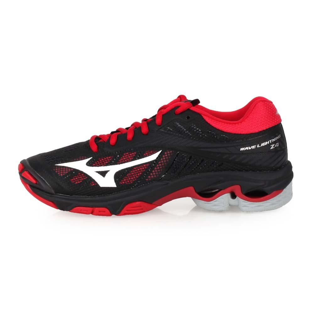 MIZUNO WAVE LIGHTNING Z4 女排球鞋-美津浓 黑红白@V1GC180086@