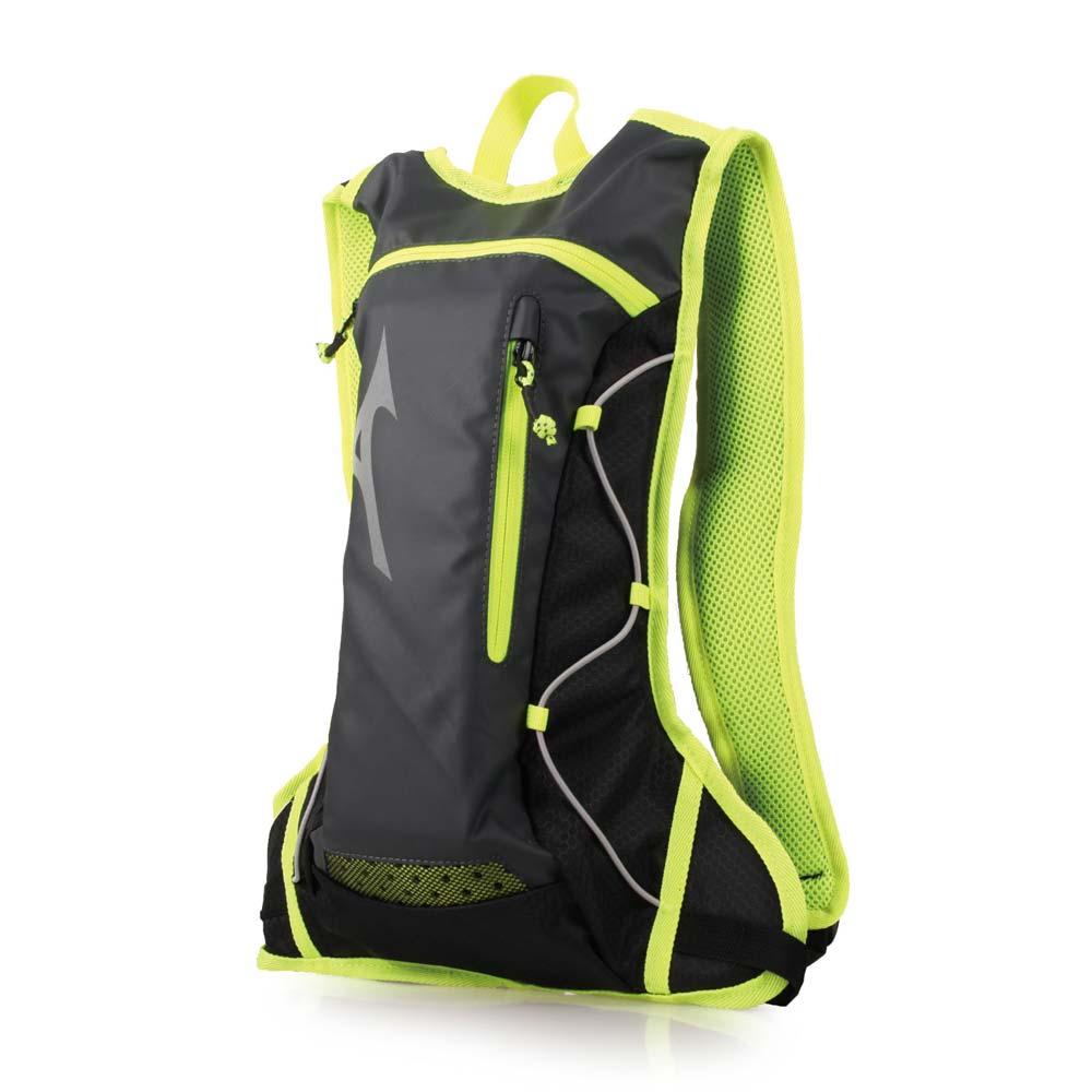 MIZUNO 运动后背包-附1.5L水袋-双肩包 旅行包 美津浓 黑萤光绿@33GD803091@