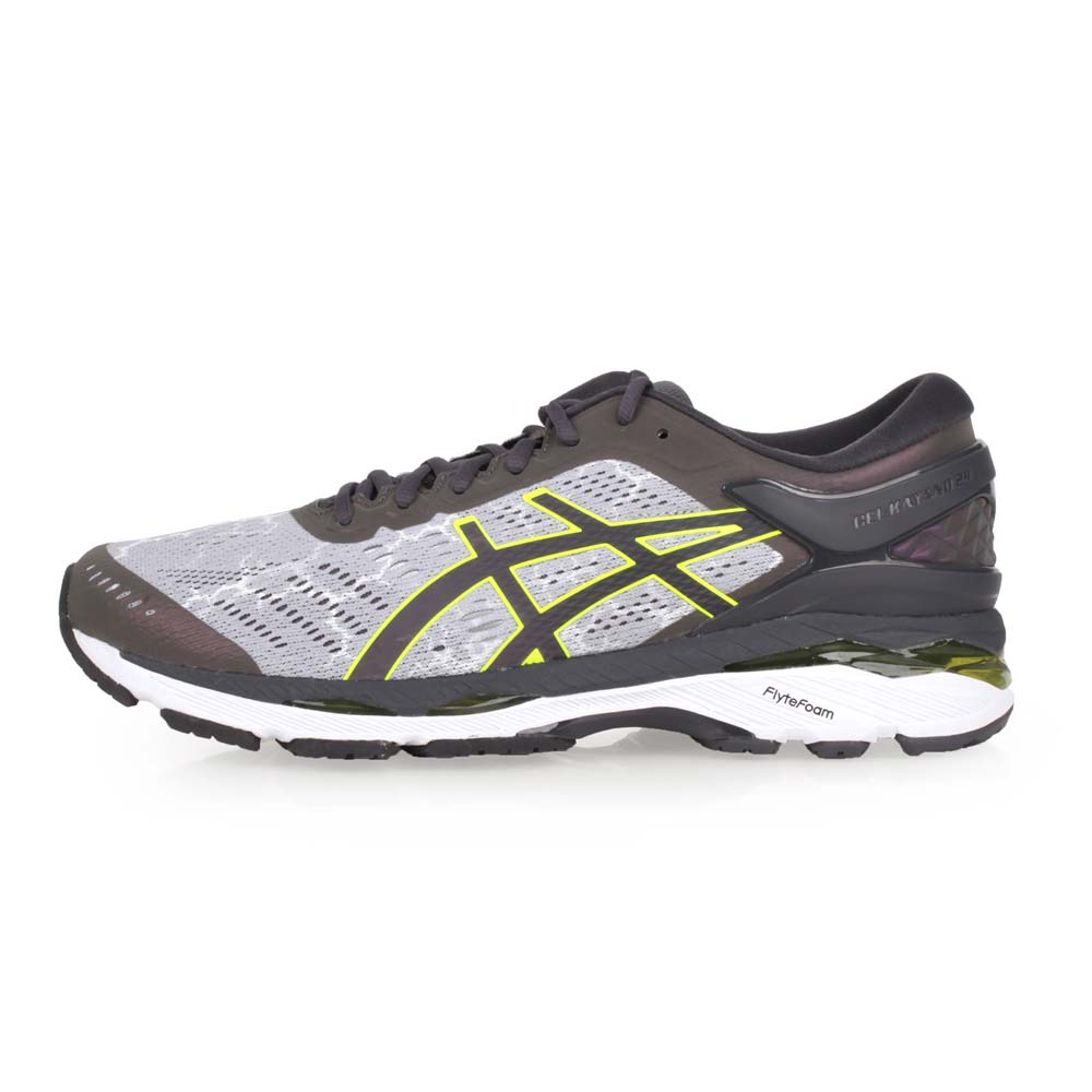 ASICS GEL-KAYANO 24 LITE-SHOW 男慢跑鞋-亚瑟士 浅灰萤光绿@T8A4N-9695@
