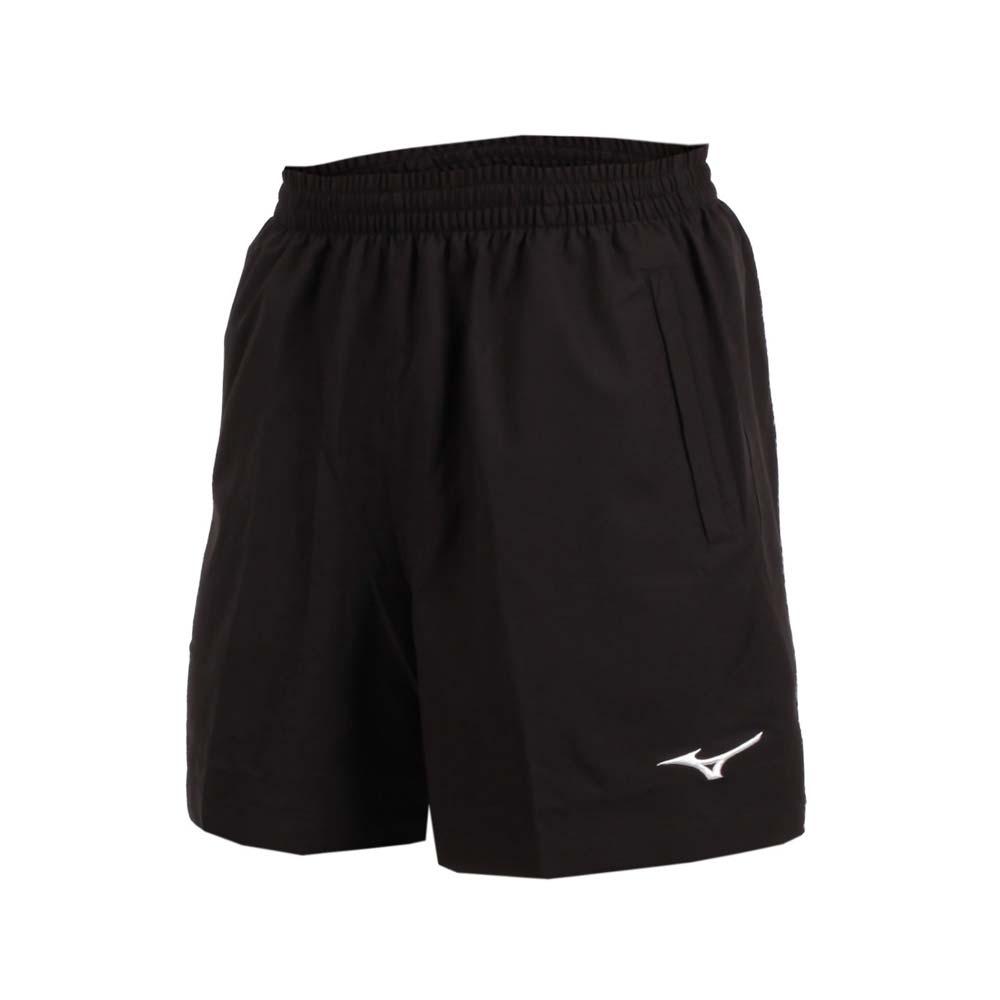 MIZUNO 男台球短裤-乒乓球 五分裤 竞赛 运动短裤 美津浓 黑白@82TB8A0109@