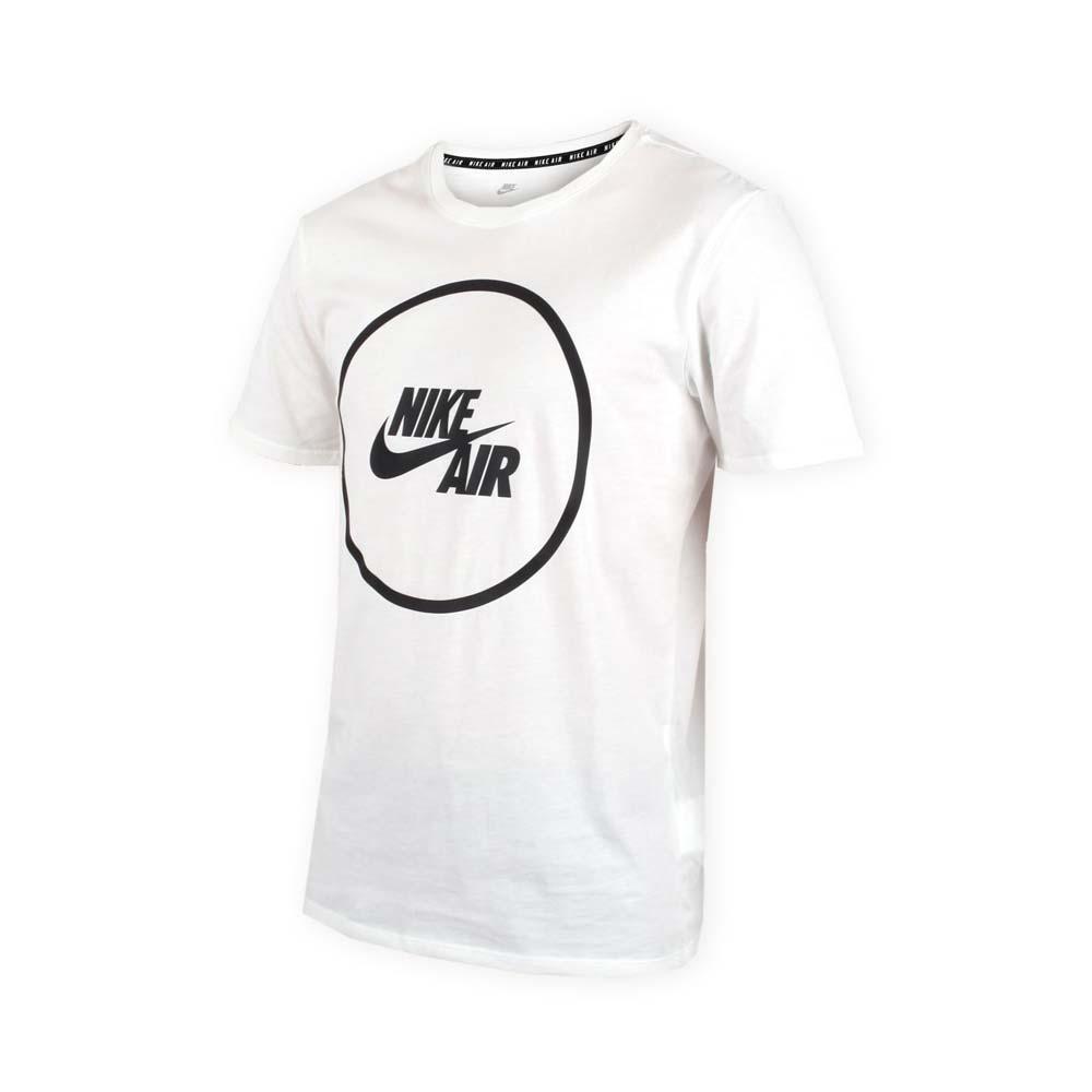 NIKE 男子针织短袖上衣-短袖T恤 慢跑 路跑 白黑@854716100@