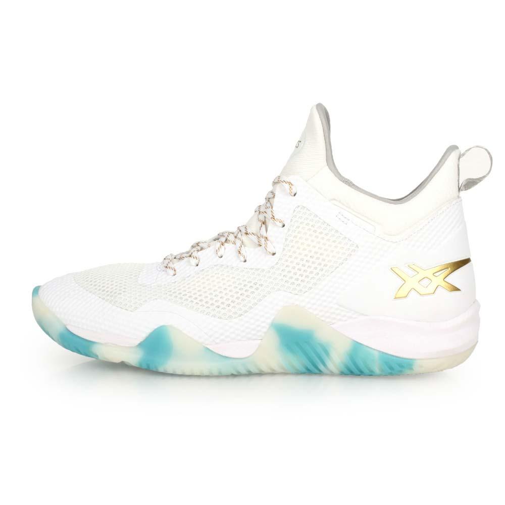 ASICS BLAZE NOVA 男篮球鞋-高筒 亚瑟士 白金@TBF31G-0194@