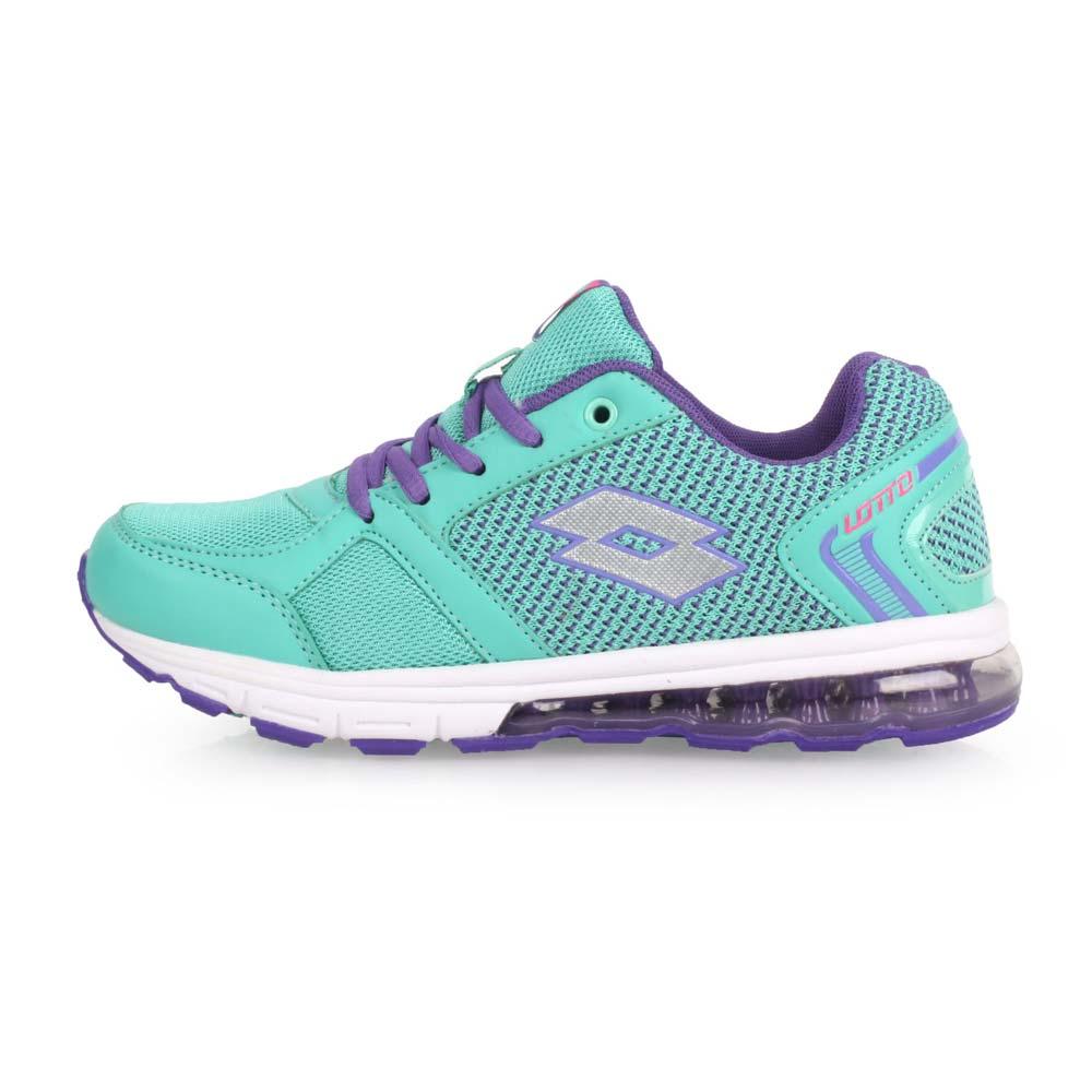 LOTTO 女大童轻量气垫跑鞋-慢跑 路跑 湖水绿紫@LT7AKR5715@