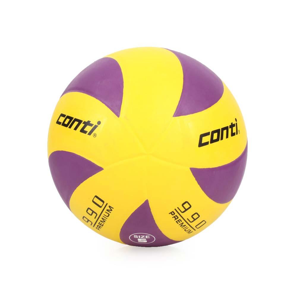 conti 5號頂級超世代橡膠排球 黃紫@V990-5-YP@