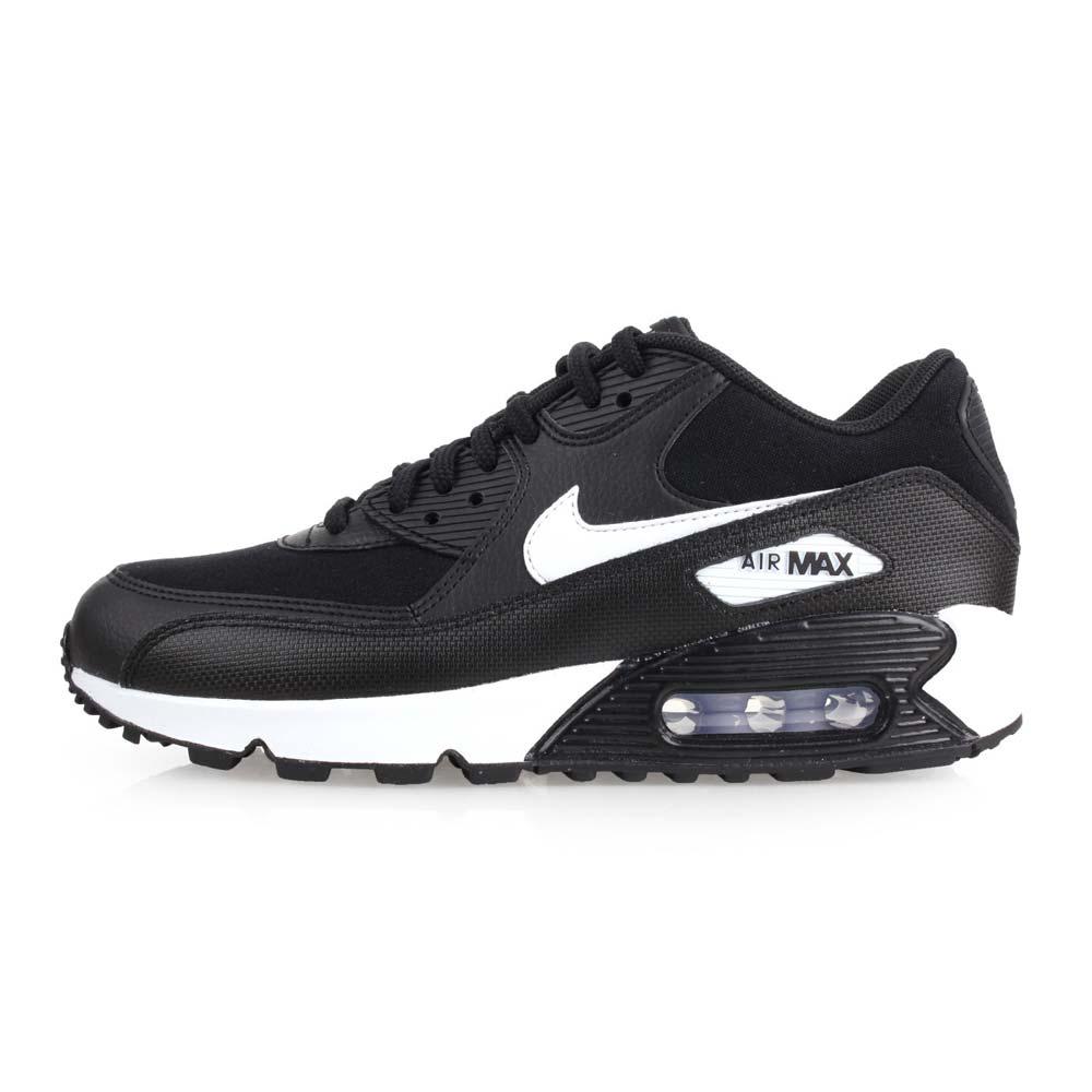 NIKE WMNS AIR MAX 90 LE 女休闲鞋-气垫 慢跑 路跑 黑白@325213047@