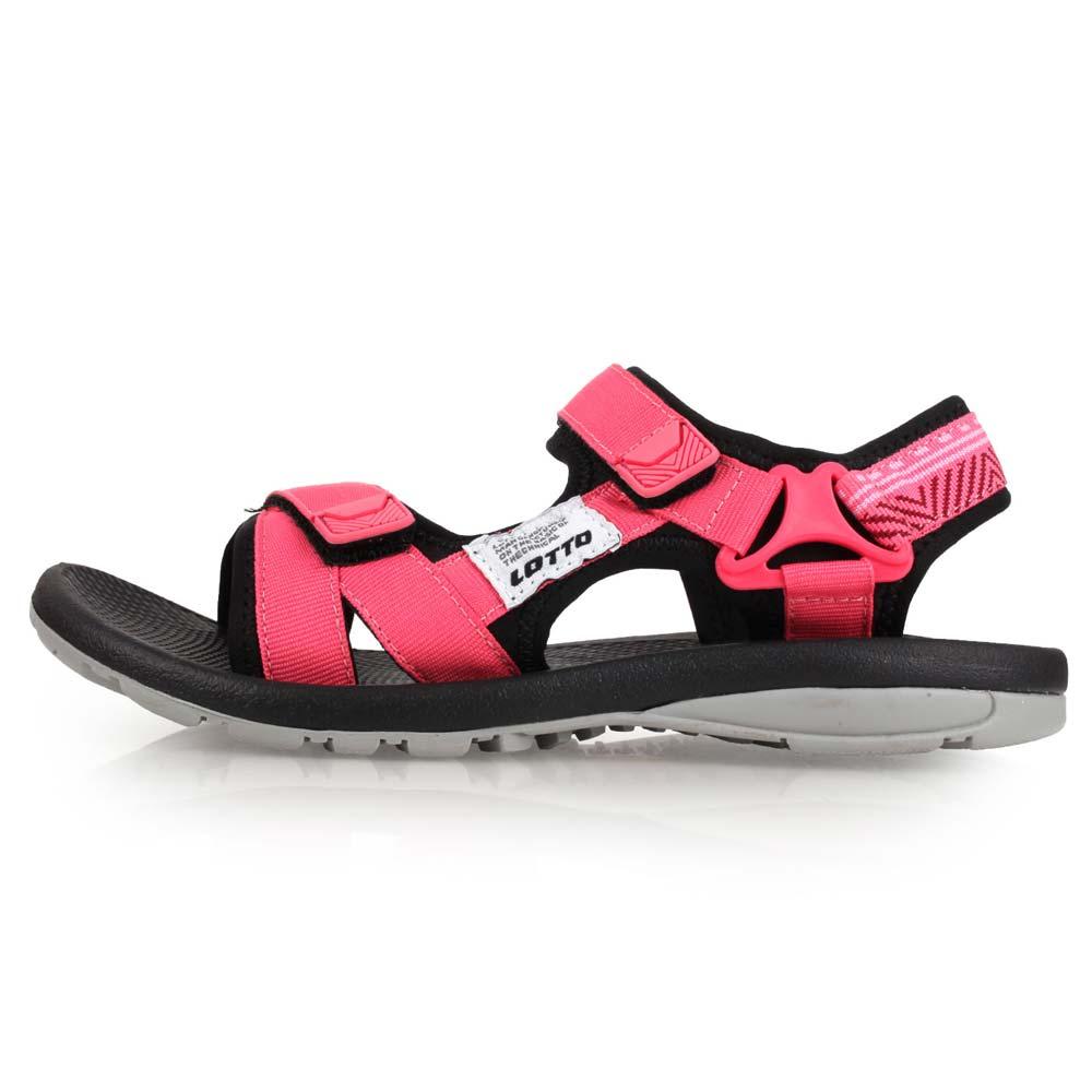 LOTTO 女织带凉鞋-魔鬼毡 戏水 海边 沙滩 海滩 珊瑚红@LT8AWS6162@