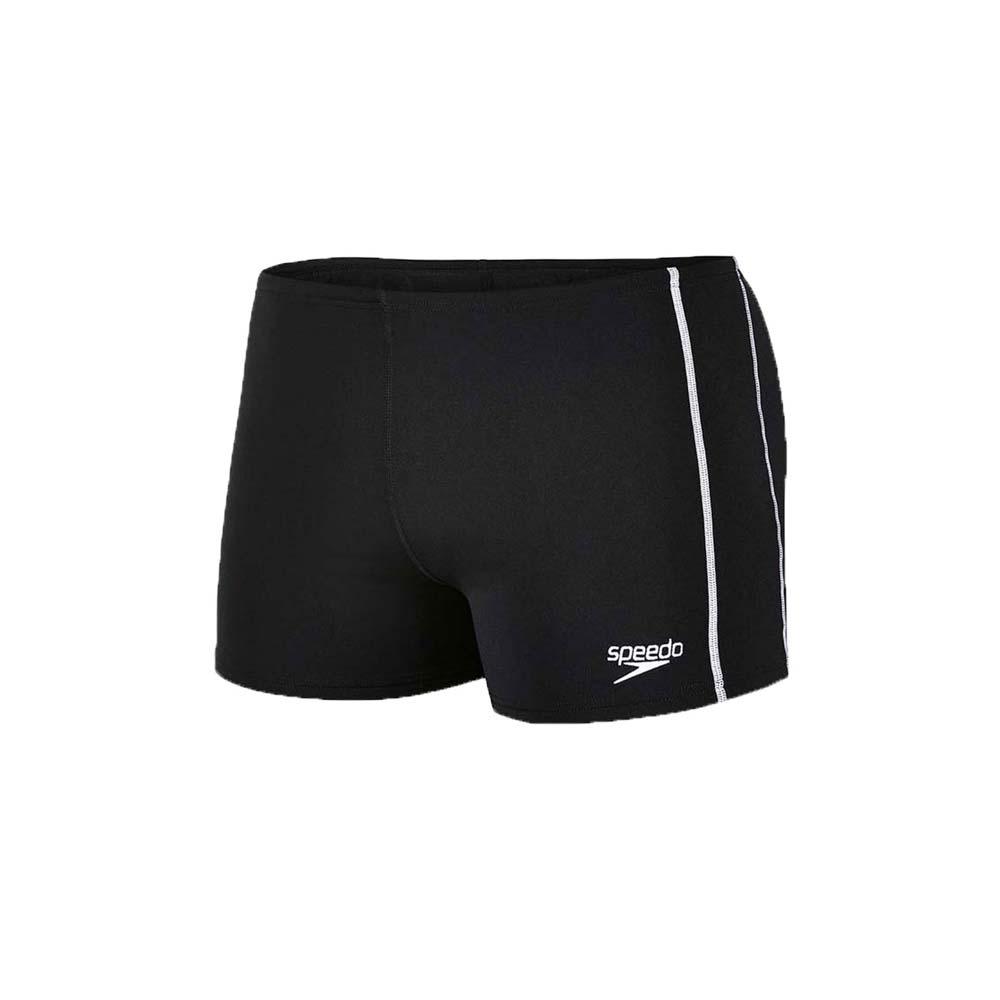 SPEEDO CLASSIC 男运动四角泳裤-平口泳裤 游泳 戏水 黑白@SD8007320001@