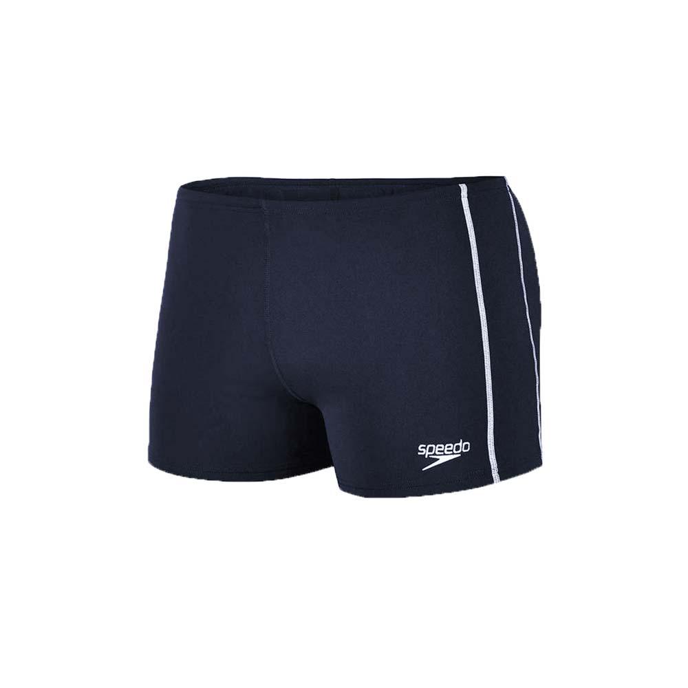 SPEEDO CLASSIC 男运动四角泳裤-平口泳裤 游泳 戏水 丈青白@SD8007327780@