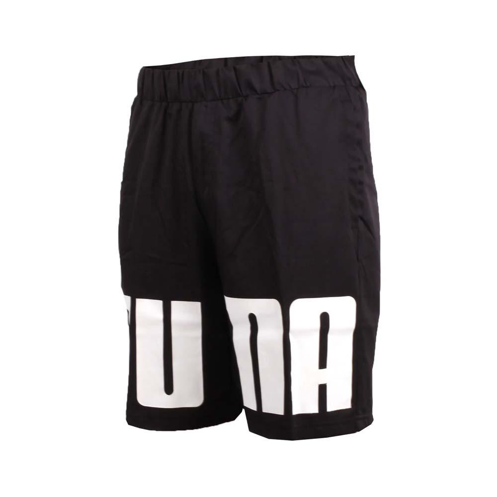 PUMA 男短风裤-防风 慢跑 路跑 黑白@85008901@