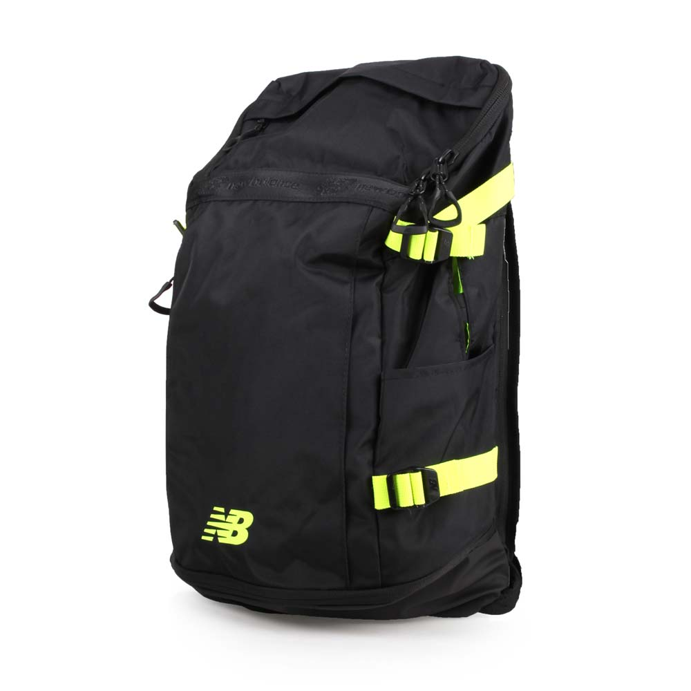 NEWBALANCE 后背包-双肩包 旅行包 26L 14吋笔电 黑萤光黄@NPBPNBK8BHL@