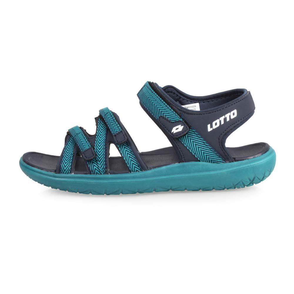 LOTTO 女轻量织带凉鞋-魔鬼毡 戏水 海边 沙滩 海滩 湖水绿丈青@LT8AWS6175@