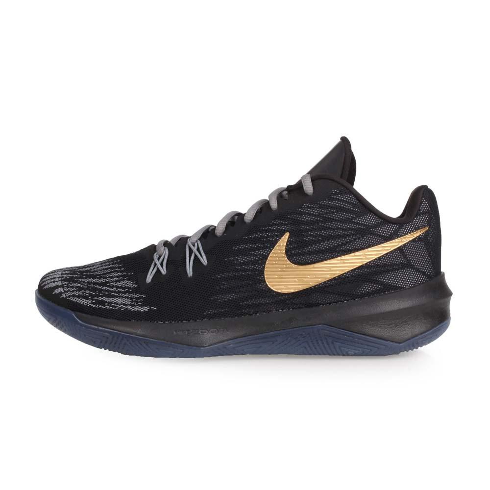 NIKE ZOOM EVIDENCE II EP 男篮球鞋-高筒 黑灰金@908978090@