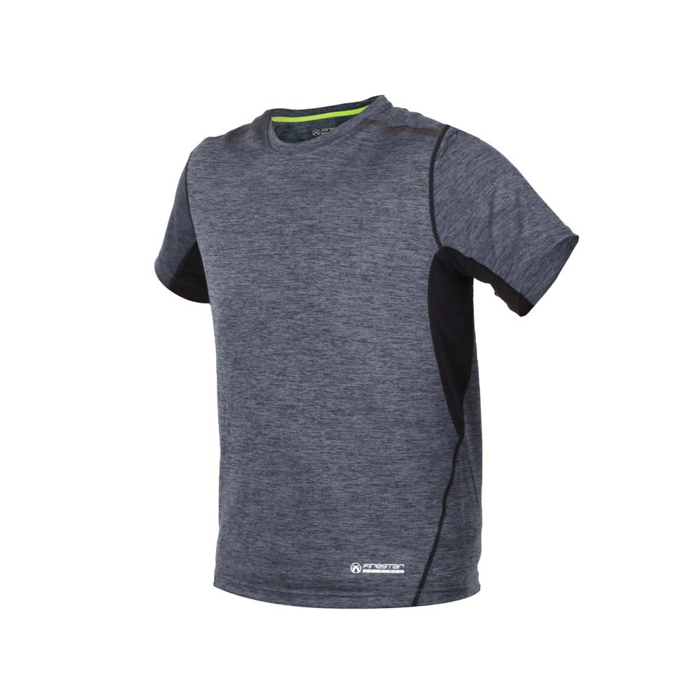 FIRESTAR 男短袖吸排圆领衫-T恤 慢跑 路跑 麻花灰@D8031-18@