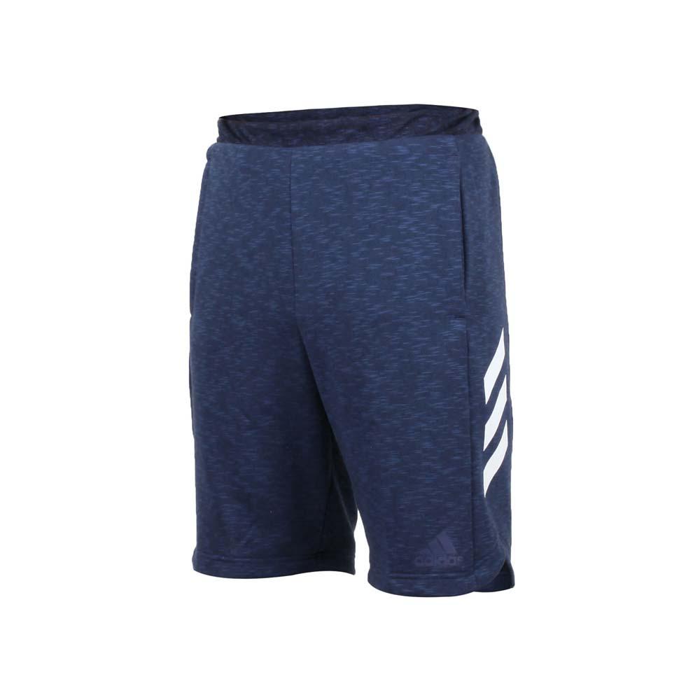 ADIDAS 男针织运动短裤-慢跑 路跑 爱迪达 麻花深蓝白@CE6958@