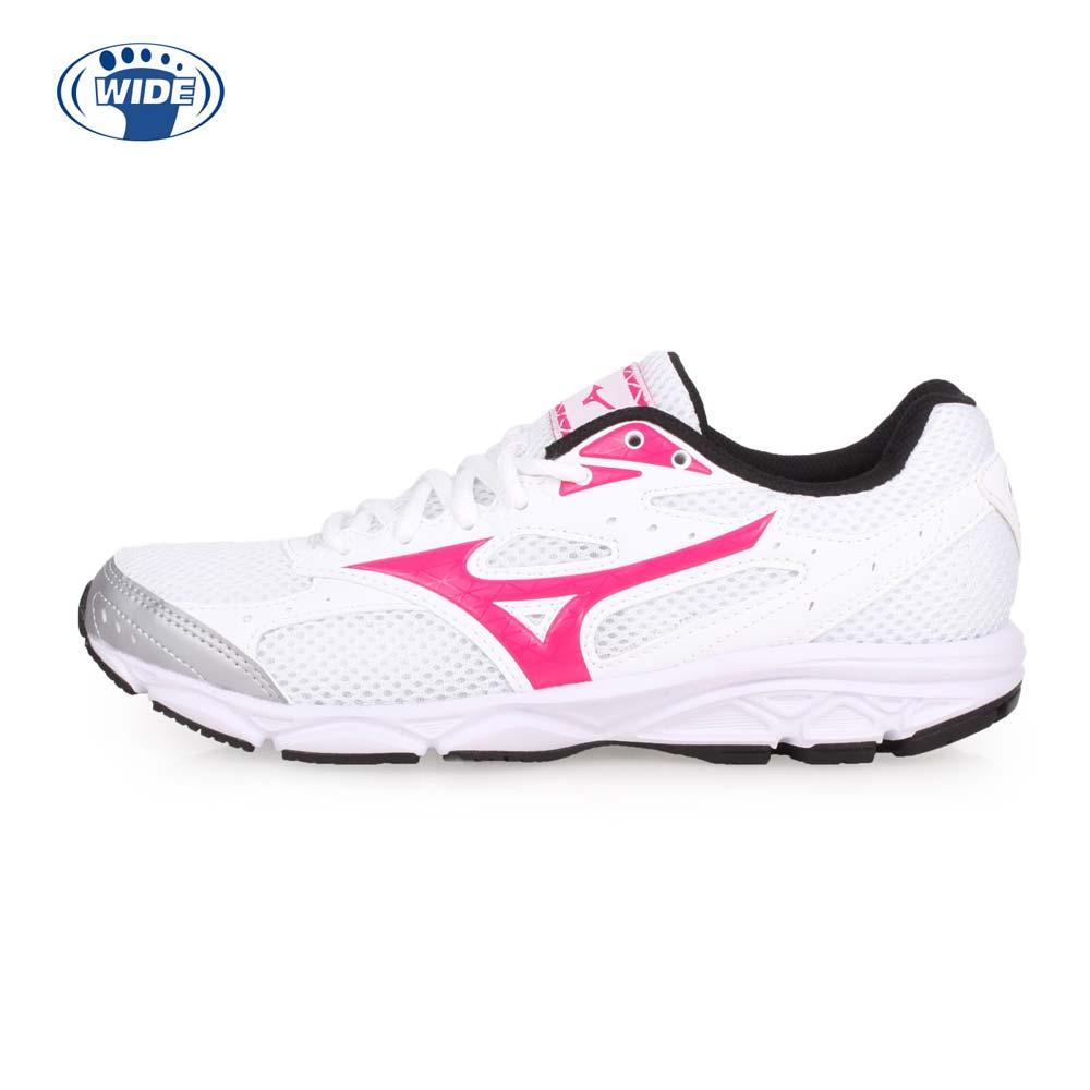 MIZUNO MAXIMIZER 20 女慢跑鞋-WIDE-路跑 宽楦 美津浓 白桃红@K1GA180159@