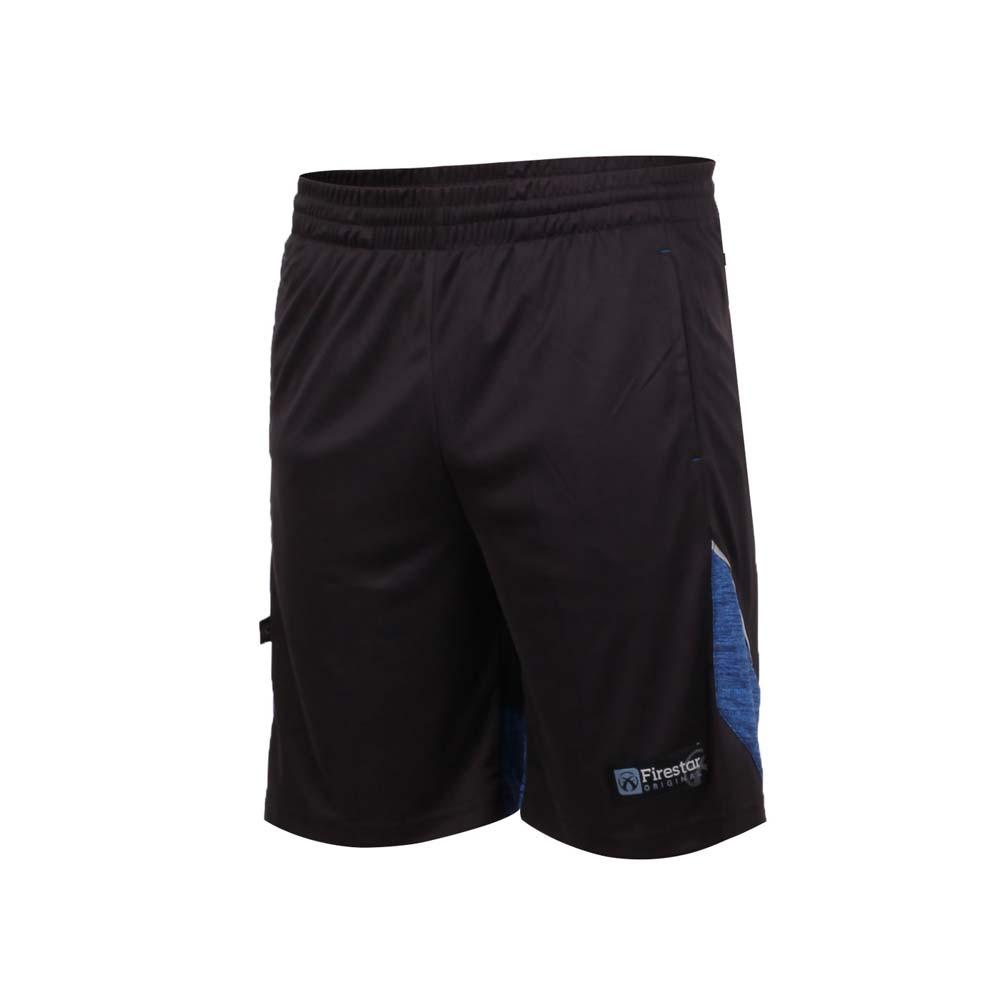 FIRESTAR 男针织篮球短裤-慢跑 黑蓝@B8003-97@