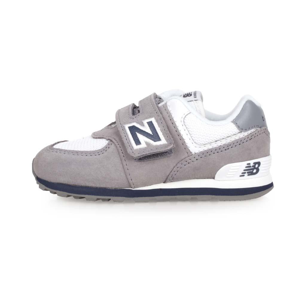 NEWBALANCE 574系列 男女儿童复古运动鞋-WIDE-宽楦 NB 灰白蓝@IV574CG@