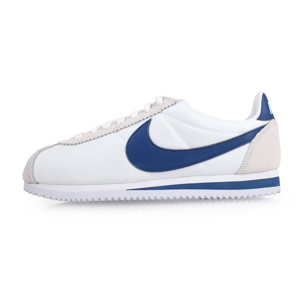 NIKE CLASSIC CORTEZ NYLON 男运动休闲鞋-慢跑 阿甘鞋 白蓝灰@807472102@
