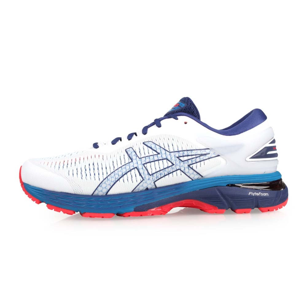 ASICS GEL-KAYANO 25 男慢跑鞋-路跑 训练 亚瑟士 白蓝@1011A019-100@