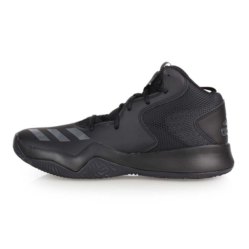 ADIDAS CRAZY TEAM II 男篮球鞋-高筒 训练 爱迪达 黑深灰@CQ0838@
