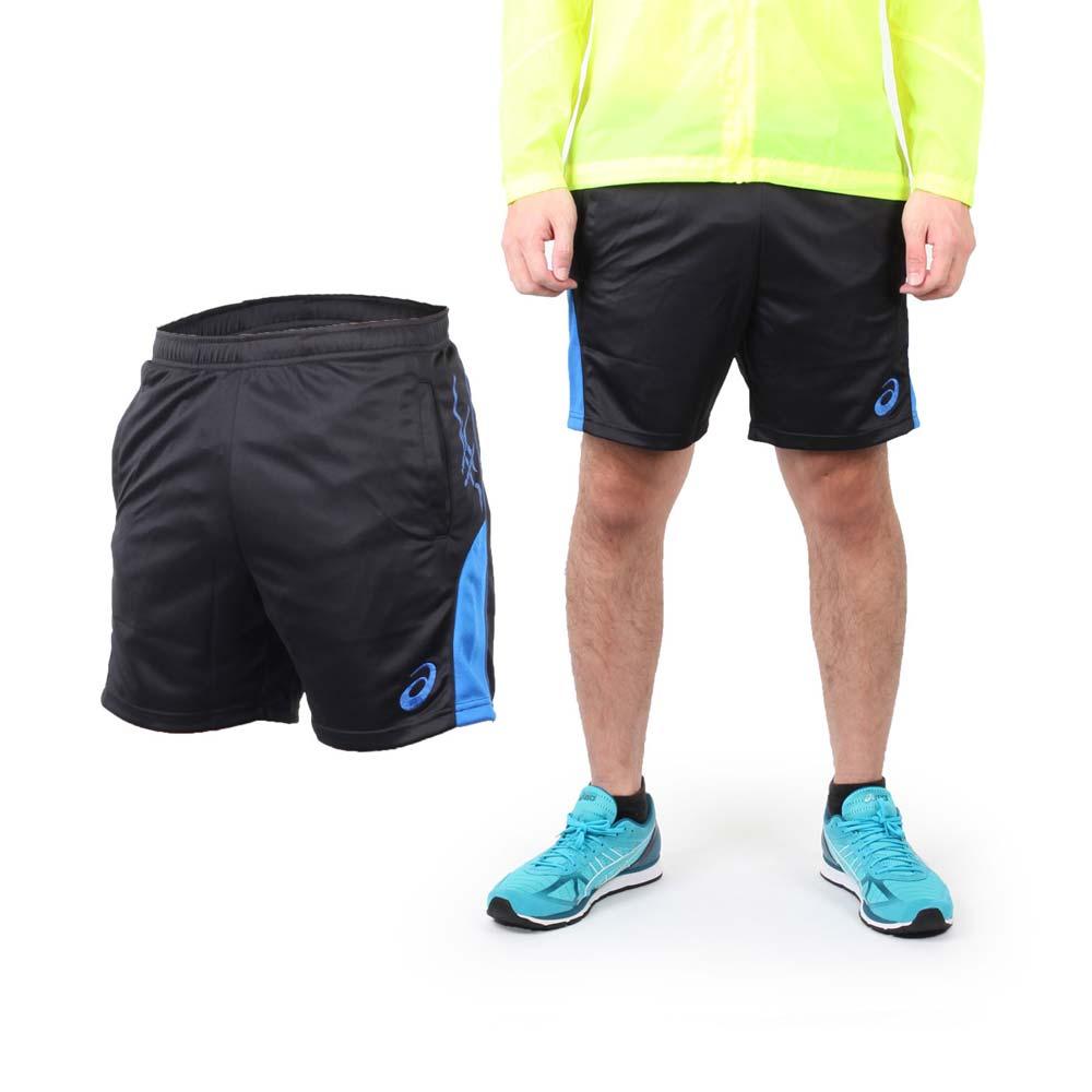 ASICS 男排球短裤-休闲短裤 运动短裤 亚瑟士 黑蓝@K31524-9043@