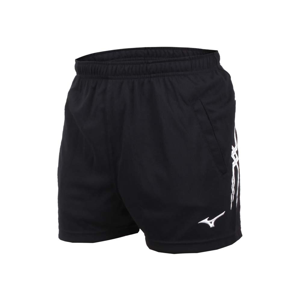 MIZUNO 男排球短裤-三分裤 训练 运动短裤 美津浓 黑白@V2TB7A0809@