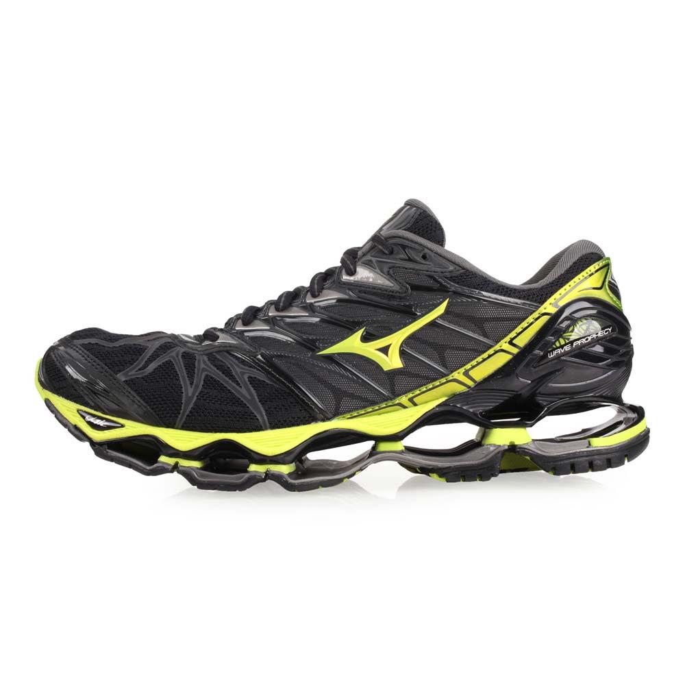 MIZUNO WAVE PROPHECY 7 男慢跑鞋-美津浓 黑芥末绿@J1GC180040@
