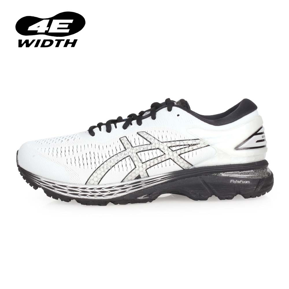 ASICS GEL-KAYANO 25 男慢跑鞋-4E-寬楦 路跑 亞瑟士 淺灰黑@1011A023-021@