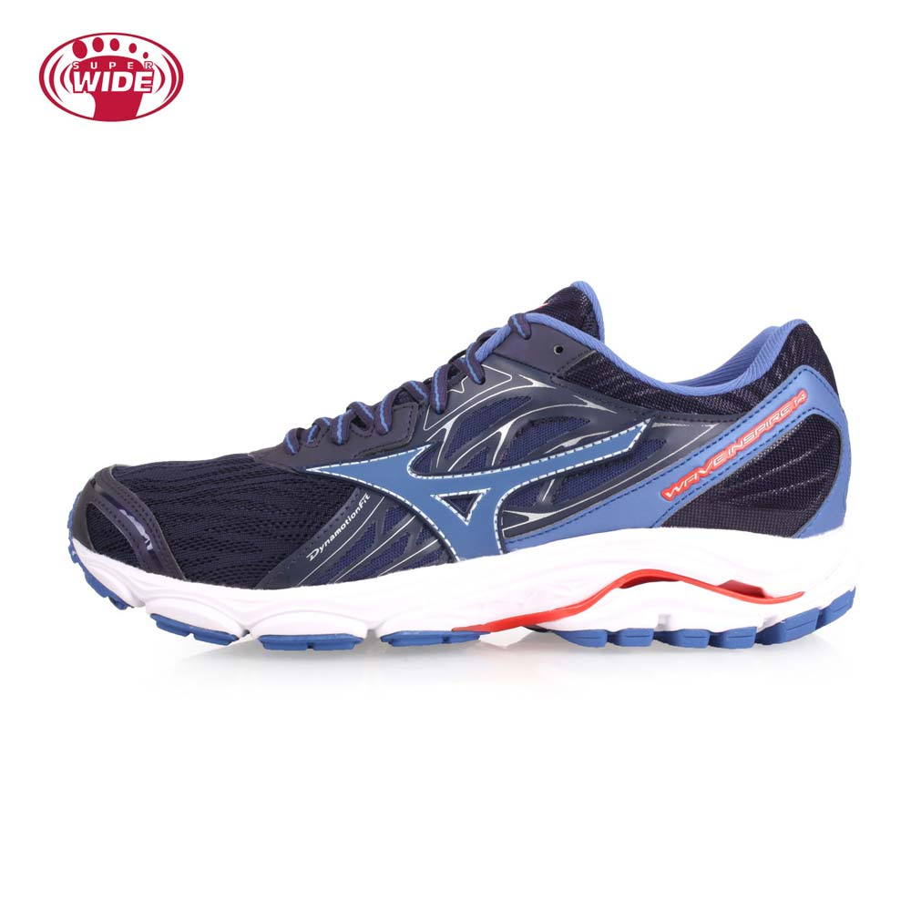 MIZUNO WAVE INSPIRE 14 SW 男慢跑鞋-WIDE-美津浓 丈青薰衣紫@J1GC184568@