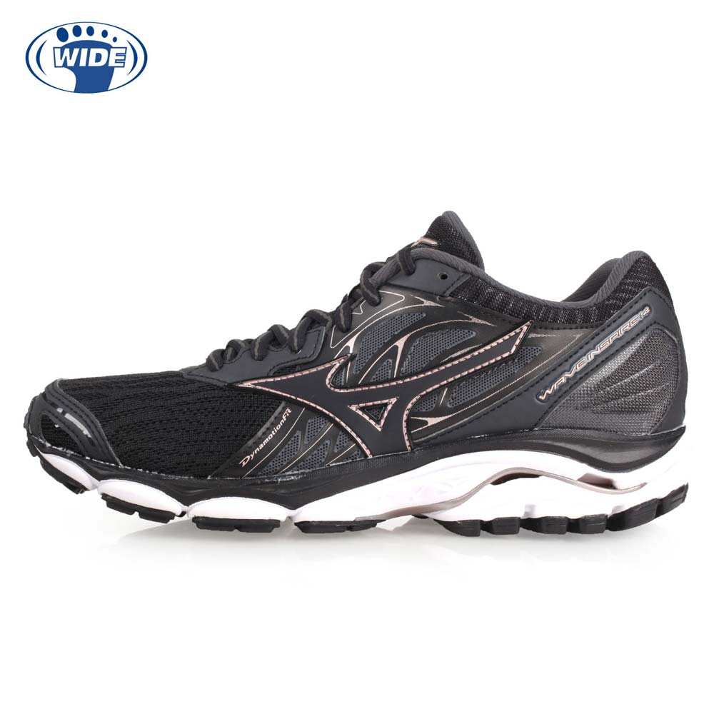MIZUNO WAVE INSPIRE 14 女慢跑鞋-WIDE-宽楦 美津浓 黑粉@J1GD184609@