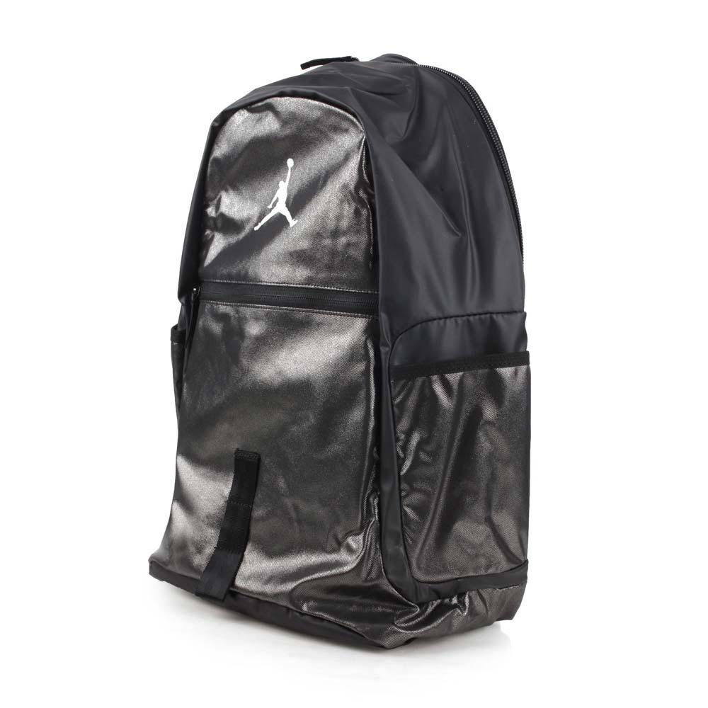 NIKE JORDAN 后背包-15吋笔电 飞人乔登 双肩包 训练包 电脑包 黑银@1810-023@