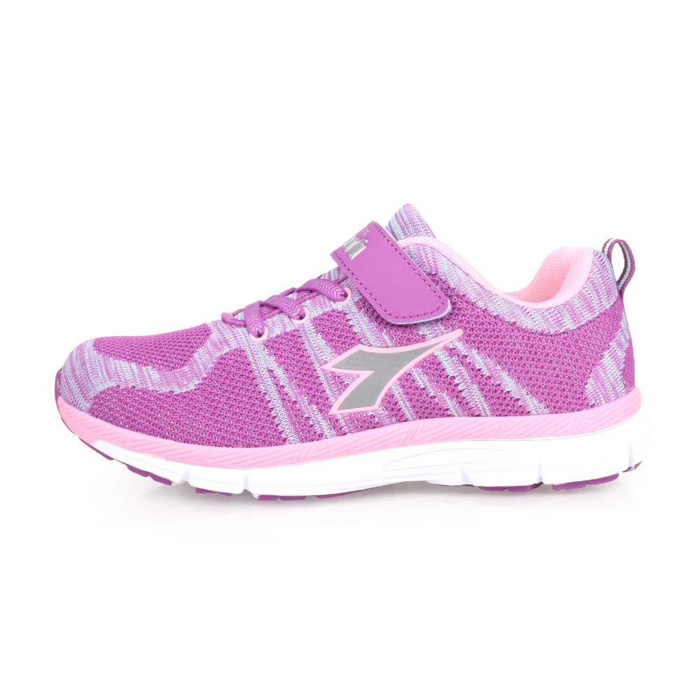 DIADORA 男女大童慢跑鞋-路跑 紫粉@DA8AKR6387@