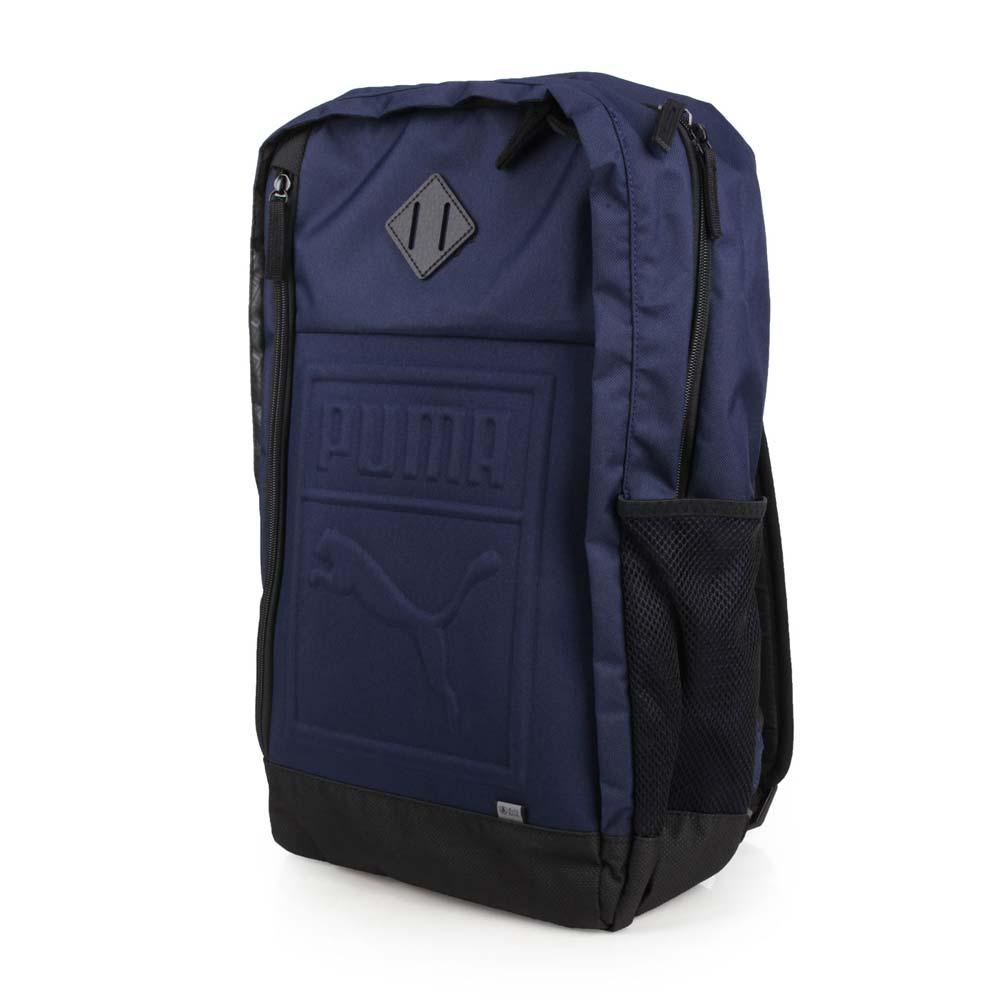 PUMA 后背包-双肩包 旅行包 27L 15吋笔电 丈青黑@07558102@
