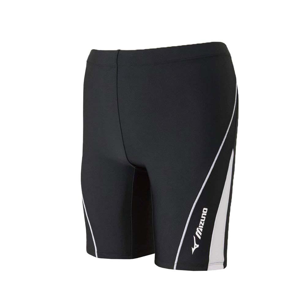 MIZUNO SWIM FITNESS 男泳裤-竞赛 泳装 游泳 戏水 美津浓 黑白@N2JB810290@