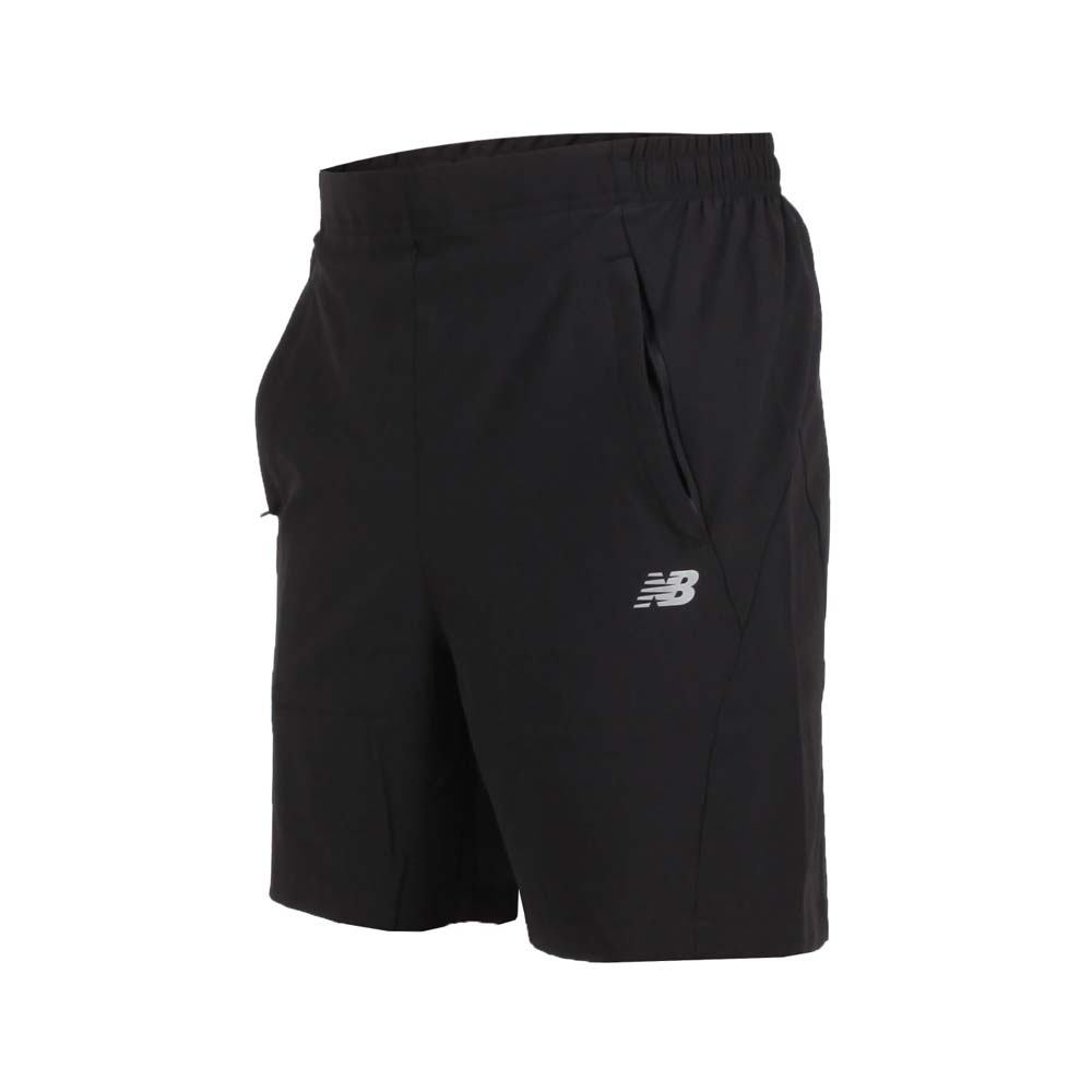 NEWBALANCE 男运动短裤-凉感 五分裤 慢跑 训练 路跑 NB 黑银@5871830189@