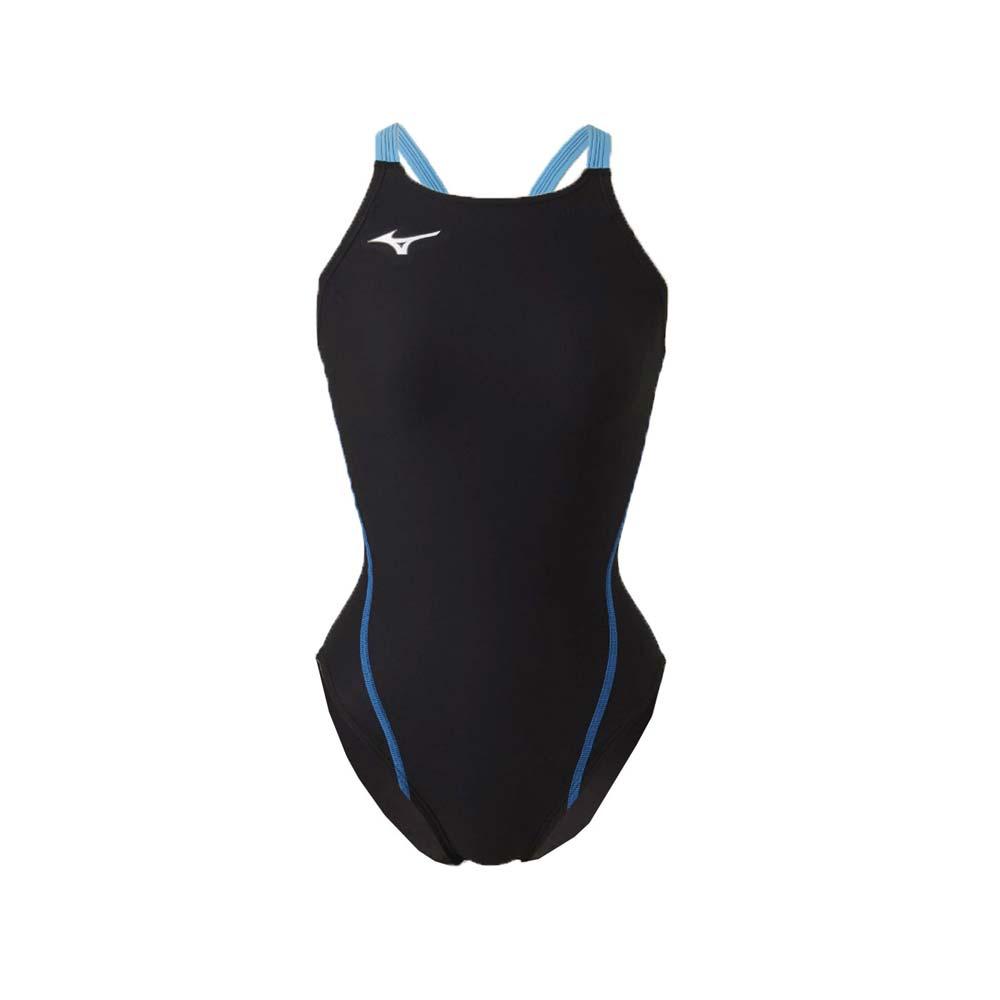 MIZUNO SWIM 女泳衣-连身 泳装 游泳 竞赛 美津浓 黑蓝@N2MA826192@