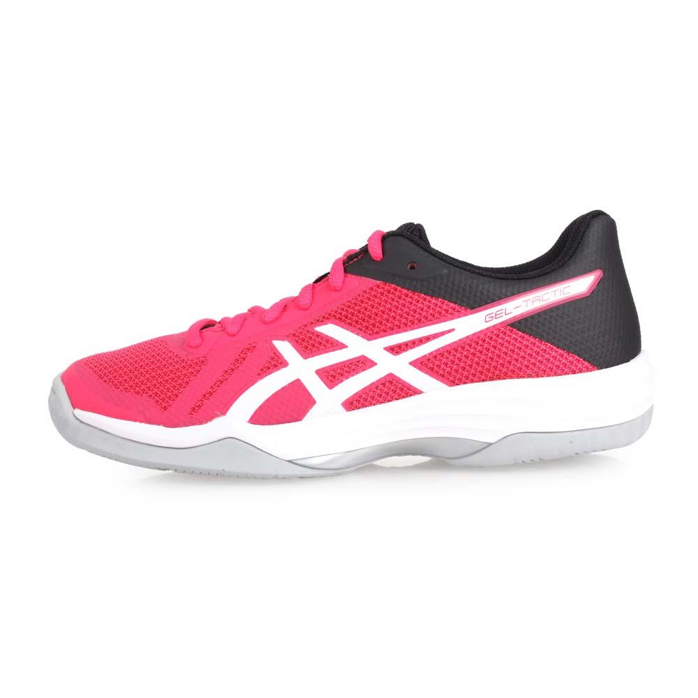 ASICS GEL-TACTIC 女排羽球鞋-排球 亚瑟士 桃红白黑@B752N-700@
