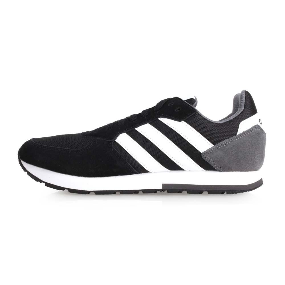 ADIDAS 8K 男慢跑运动鞋-路跑 爱迪达 黑白@B44650@